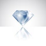Diamante del vector con la reflexión Imágenes de archivo libres de regalías