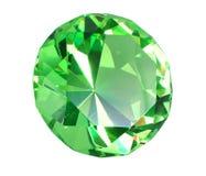 Diamante di cristallo verde della bruciacchiatura fotografia stock libera da diritti