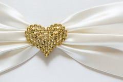 Diamante di forma del cuore Fotografie Stock Libere da Diritti