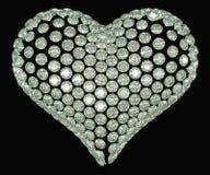Diamante di forma del cuore o insieme della pietra preziosa Immagine Stock