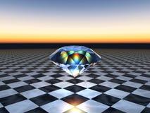Diamante di galleggiamento Immagini Stock Libere da Diritti