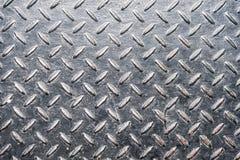 Diamante di lerciume di piastra metallica Fotografie Stock