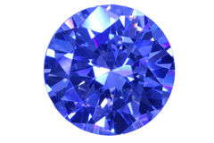 Diamante do azul da face Imagem de Stock