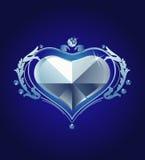 Diamante do coração Imagens de Stock Royalty Free