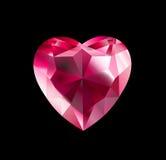 Diamante do coração Fotos de Stock