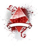 Diamante do póquer ilustração do vetor