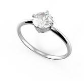 Diamante do wiith da aliança de casamento ilustração 3D Imagens de Stock Royalty Free