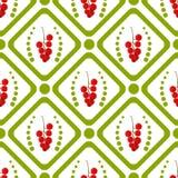 Diamante e círculo verdes com um ramo do corinto vermelho ilustração stock