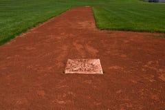 Diamante e campo de basebol Foto de Stock Royalty Free