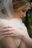 Diamante e velare della sposa Fotografie Stock Libere da Diritti