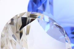 Diamante e zaffiro fotografia stock libera da diritti