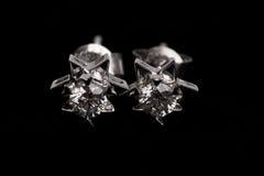 Diamante earing Foto de archivo libre de regalías