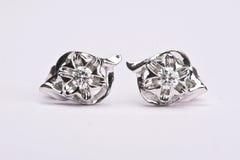 Diamante earing Fotos de archivo libres de regalías