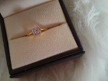 Diamante en el fondo blanco de la piel Imagen de archivo libre de regalías