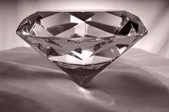Diamante en el satén Imagen de archivo libre de regalías
