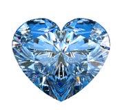 Diamante en forma de corazón aislado en blanco Imagen de archivo
