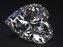 Diamante en forma de corazón hermoso Fotos de archivo libres de regalías
