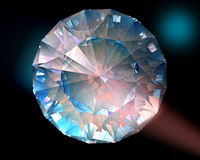 Diamante en luces coloridas Fotografía de archivo libre de regalías