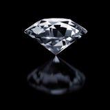 Diamante en negro Fotos de archivo libres de regalías