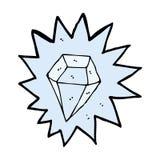 diamante enorme del fumetto illustrazione di stock