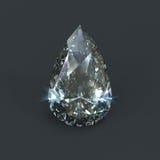 Diamante a forma di della lacrima Immagini Stock Libere da Diritti