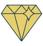 Diamante, Gem Isolated Vetora Icon para o partido e a celebração ilustração royalty free