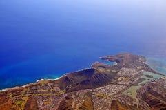 Diamante Hawaii principal, un raro una vista aérea del cráter volcánico extinto en Hawaii imagenes de archivo
