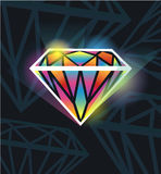 Diamante hermoso stock de ilustración