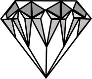 Diamante. Illustration on isolated on white background Stock Images