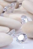 Diamante infiammante Fotografia Stock