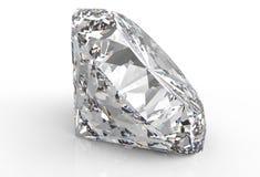 Diamante isolado no branco Foto de Stock Royalty Free