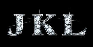 Diamante J, K, L Foto de archivo libre de regalías