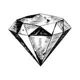 Diamante na ilustração áspera Imagem de Stock