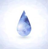 Diamante nella goccia di acqua illustrazione di stock