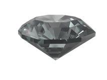 Diamante nero isolato su bianco Fotografie Stock Libere da Diritti