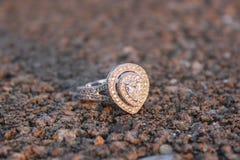 Diamante no áspero imagens de stock royalty free