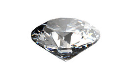 Diamante no fundo branco com de alta qualidade Foto de Stock