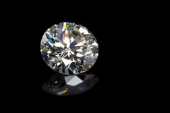 Diamante no preto imagem de stock royalty free