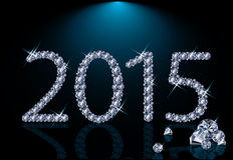 Diamante novo 2015 anos Imagem de Stock