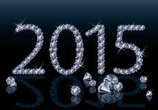 Diamante novo cartão de 2015 anos Foto de Stock Royalty Free