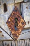 Diamante oxidado buraco da fechadura dado forma Foto de Stock Royalty Free