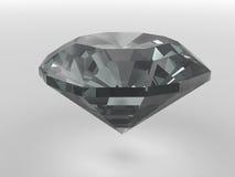 Diamante preto rendido com sombras macias ilustração do vetor
