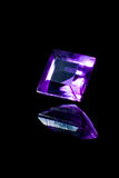 Diamante quadrato con la riflessione Fotografie Stock