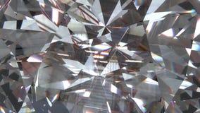 Diamante realista con la textura ascendente del cierre del cáustico, ejemplo 3D foto de archivo