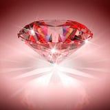 Diamante rojo stock de ilustración