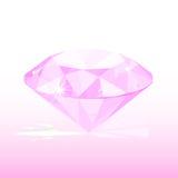 diamante rosado stock de ilustración