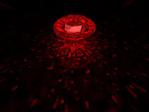 Diamante rosso Fotografia Stock