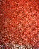 Diamante rosso di piastra metallica Fotografie Stock