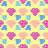 Diamante sem emenda do vetor, teste padrão de cristal Imagens de Stock Royalty Free