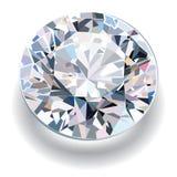 Diamante sfaccettato su un fondo bianco Immagine Stock Libera da Diritti